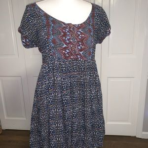 Free People Dress Cutout Back Short Sleeves S